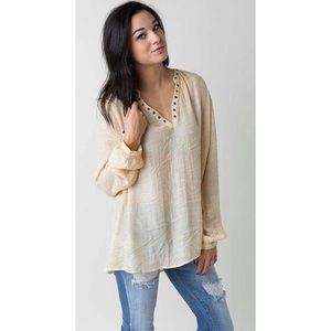 "Gilded Intent ""Burned"" Long Sleeve Tunic"